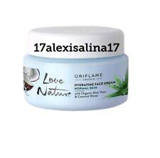 Oriflame Love Nature Hydrating Face Cream Aloe Vera & Coconut Water Normal Skin