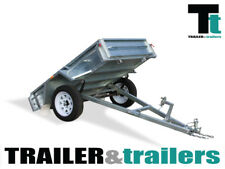 6x4 BOX TIPPER TRAILER - GALVANISED - HEAVY DUTY SINGLE AXLE - SPARE WHEEL