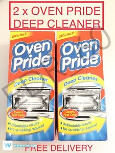 Pack of 2 x Oven Pride Deep Cleaner UK No.1 First Time Clean No Scrubbing 500ml