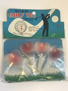 Vintage 1960s Wico Brand Golf Tees Nip Rare New Old Stock Classic Style Golf Tee