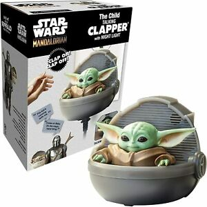 Star Wars The Mandalorian Baby Yoda Talking Clapper with Night Light