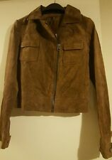 Brown Genuine Leather jacket size 8