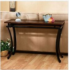 Entryway Table Console Wood Metal Hallway Furniture Sofa Accent Modern Foyer NEW