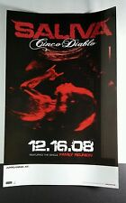 SALIVA CINCO DIABLO RED BABY DBL SIDED PHOTO PROMO 11x17 MUSIC POSTER