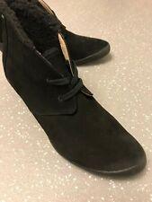 Women's Terra Plana Black Suede Lace Up Ankle Boots Wedge Heels UK 6 EU 39 US 8