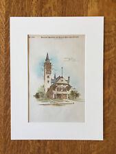 Engine House No. 15, Detroit, MI, 1888, Donaldson & Meier, Original Hand Colored