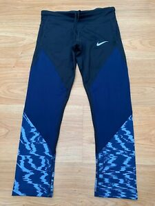 XS Women's Nike Power Running DRI-FIT Capri Cropped Leggings Pants Tights 99p