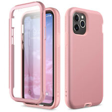 For iPhone 11 Pro Max Case Hard 360 Cover Built-in Screen Protector Solid Color