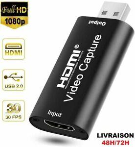 HDMI Video Capture Usb 2.0 HD 1080P Enregistreur Jeux Live Streaming