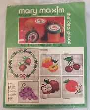 Mary Maxim FRUIT JAR RINGS Needlecraft Kit #17493 Peach ,grape, cherry, orange