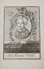 1756 Johann Martin Veith RAME chiave Portrait