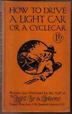 Comment conduire une lumière Voiture ou un cyclecar pub. Temple Press circa 1920 S