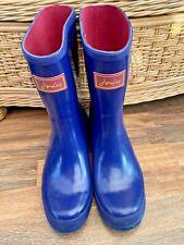 Joules Blue & Pink Wellington Boots - Size 8