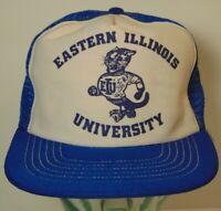 Vtg 1980s Eastern Illinois University Football SNAPBACK TRUCKER HAT Tony Romo