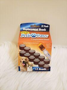 NIB Pedi Paws Replacement Heads 12 Pack