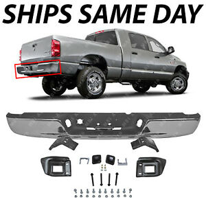 Bumper Step Pad Rear Black compatible with Dodge Full Size P//U 1500 02-08//2500//3500 03-09