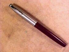 Sheaffer 440 Pluma Estilo Imperial, granate, con incrustaciones de nuevo en Caja, Acero Pulido