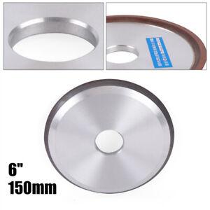 "Resin Diamond Grinding Wheel 6"" Carbide Grinder Disc Cutter Sharpener Wheel Cup"