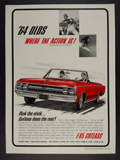 1964 Oldsmobile Olds F85 Cutlass Convertible vintage print Ad