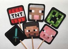 Minecraft Cupcake Picks 24 Party Decoration