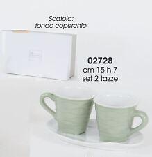 Bomboniera Set tazzine caffè ceramica color Salvia 150x70mm art 02728