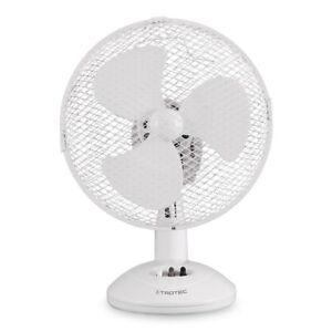 "TROTEC 1510005011 9"" Desk fan TVE 9 w/ Oscillation & 2 Speeds, 2 pin plug"