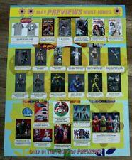 Previews 5/2005 Thanos Harley Quinn Predator Buffy Wolverine PROMO Poster FVF