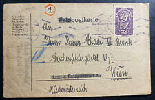 1920 Austria Navy Postcard Hand Drawn Cover To Vienna