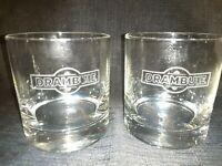 Vintage Set of 2  DRAMBUIE Scotch Whiskey On the Rocks Glasses / Barware / VGC