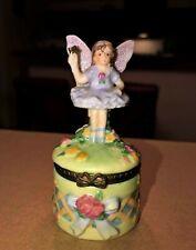 Tooth Fairy so pretty Hinged Trinket box Vintage !