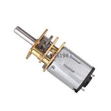 2PCS DC12V 600RPM Micro Speed Reduction Gear Motor Metal Gearbox Wheel Shaft