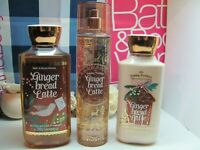 Bath and Body Works 3 ~ Gingerbread Latte ~  Mist , Lotion  & Gel