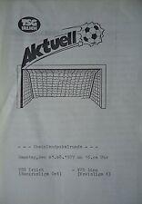 Programm Pokal 1987/88 TSG Irlich - VFB Linz