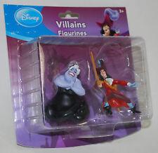 Disney Evil Villains Figurines Ursula & Captain Hook 2 pk