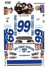 #99 Carl Edwards 3 Stooges Beer 1/32nd Scale Slot Car Waterslide Decals