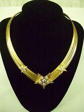 Kirks Folly Necklace Jeweled Choker with Crystal Stars