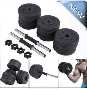 20kg Dumbbell Set Home Gym Workout Kit Opti Vinyl Weights Adjustable Dumbell New
