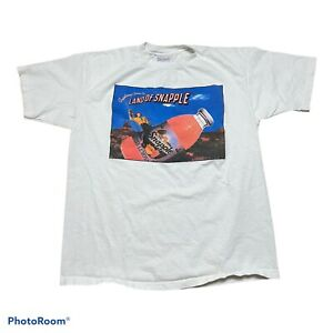 Vintage 90's Snapple Promo Shirt USA Made Single Stich All Sport Size XL