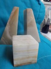Vintage Marble Book Ends and Paper weight