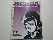 1987 Honda CH150 Elite150 Scooter Service Repair Shop Manual Factory NEW 1987