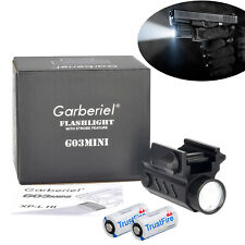 Ultra Bright 20000LMS Gun Flashlight Torch Pistol Light For Picatinny Rail Hunt