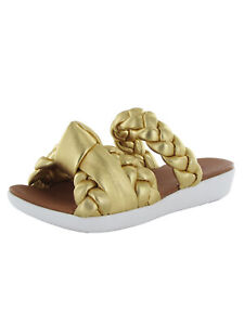 Fitflop Womens Braid Slide Leather Sandal Shoes