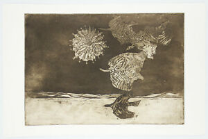 Roger Gerster Signed Limited Edition (10/25) Modernist Etching with Aquatint