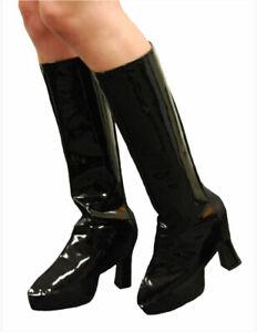 Go Go Knee High Ladies Gogo Boot Tops Hippie Hippy 60s 70s Disco Shoe Cover