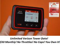 Hotspot Unlimited Data No Throttling $50 Page Plus Service (Verizon Tower)
