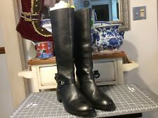 14th & Union Riding Boots Women's sz 10M Black Leather/stretch fabric on upper
