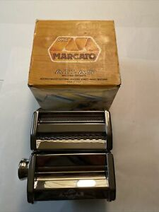 Marcato Design Atlas 150 Pasta Machine, Includes Cutter, Hand Crank, Silver