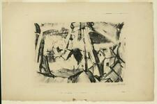 Quarry,stone #3,abstract prints,art,lithographs,monochromatic,John Opper,1942