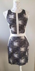REDUCED YTTRIUM by Aurelio Costarella fitted dress - size 1 (fits size 6-8)