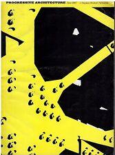 rivista - PROGRESSIVE ARCHITECTURE ANNO 1967 NUMERO 6